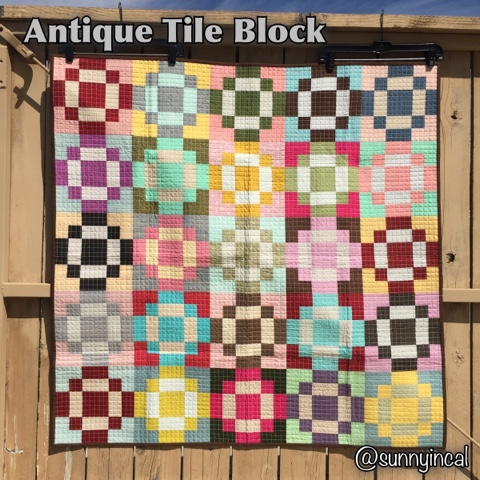 Sunny in CAL: Antique Tile Block - Quick Tutorial : tile quilt - Adamdwight.com
