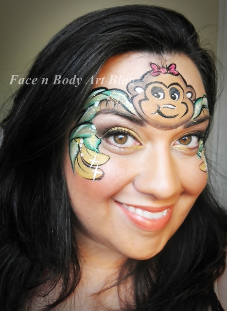 Monkey face paint, Monkey and Faces on Pinterest