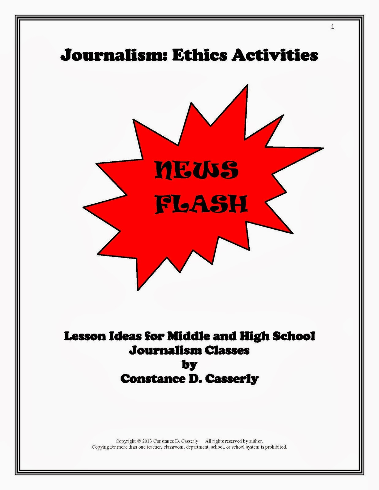 Middle School and High School Journalism Lessons