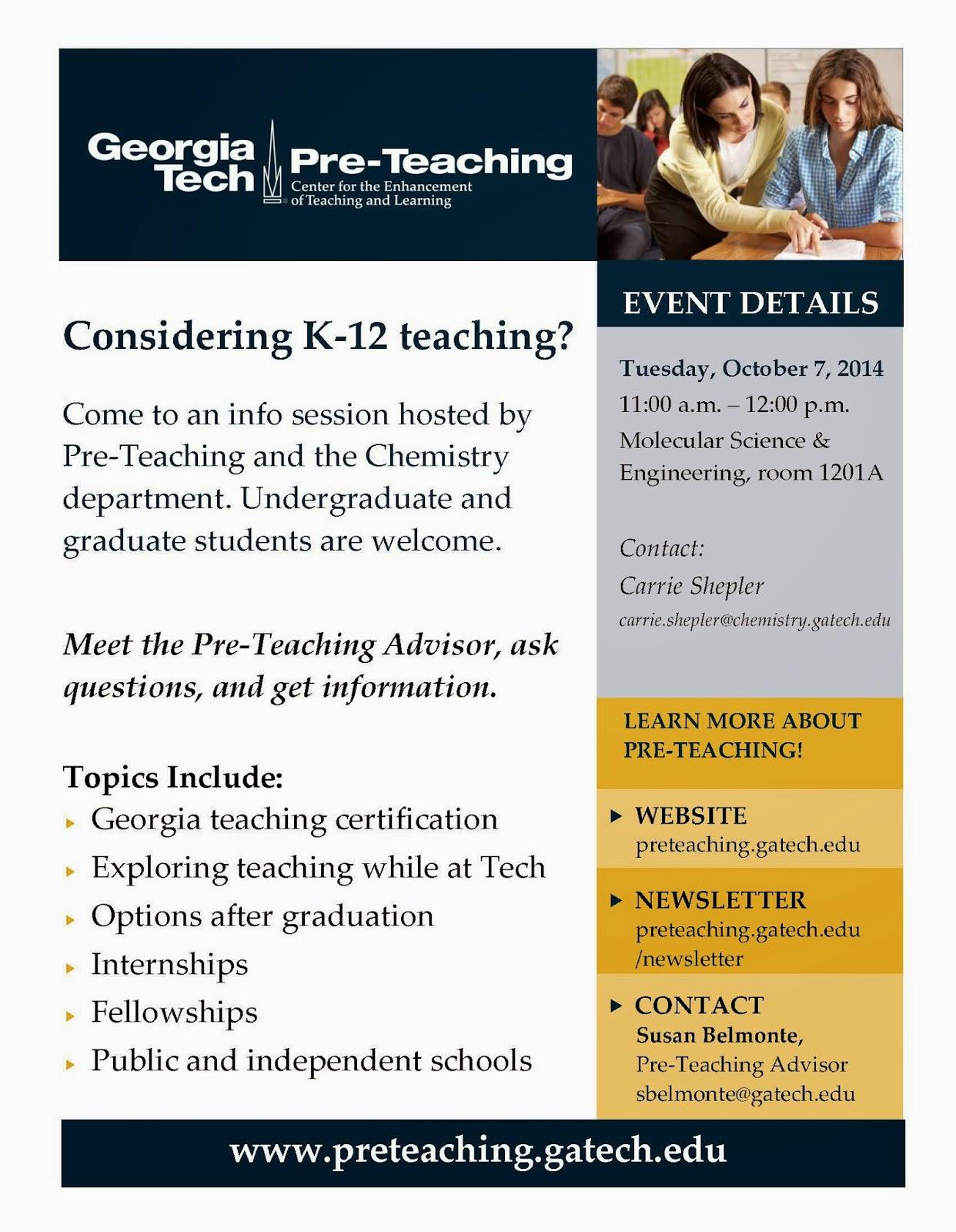 Georgia Institute Of Technology School Of Chemistry Biochemistry