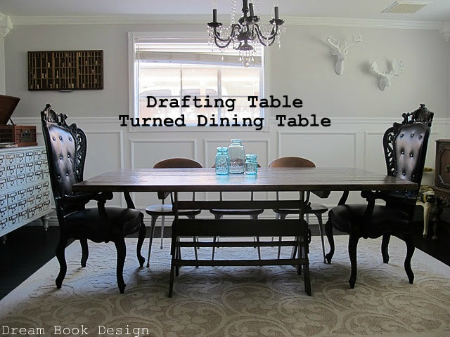 Vintage Drafting Table Turned Dining