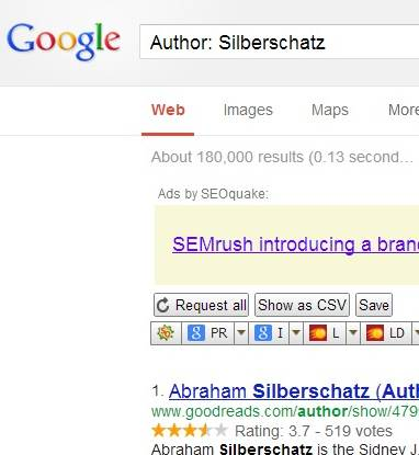 Author Search in Google