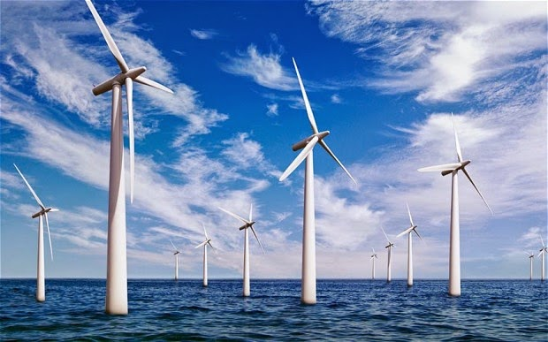wind farm, renewables, north sea