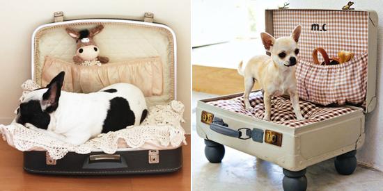 Diy un panier pour chien dans une valise woof mag - Panier pour chien fait maison ...