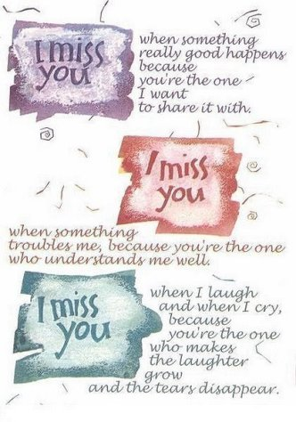 with missing you poem