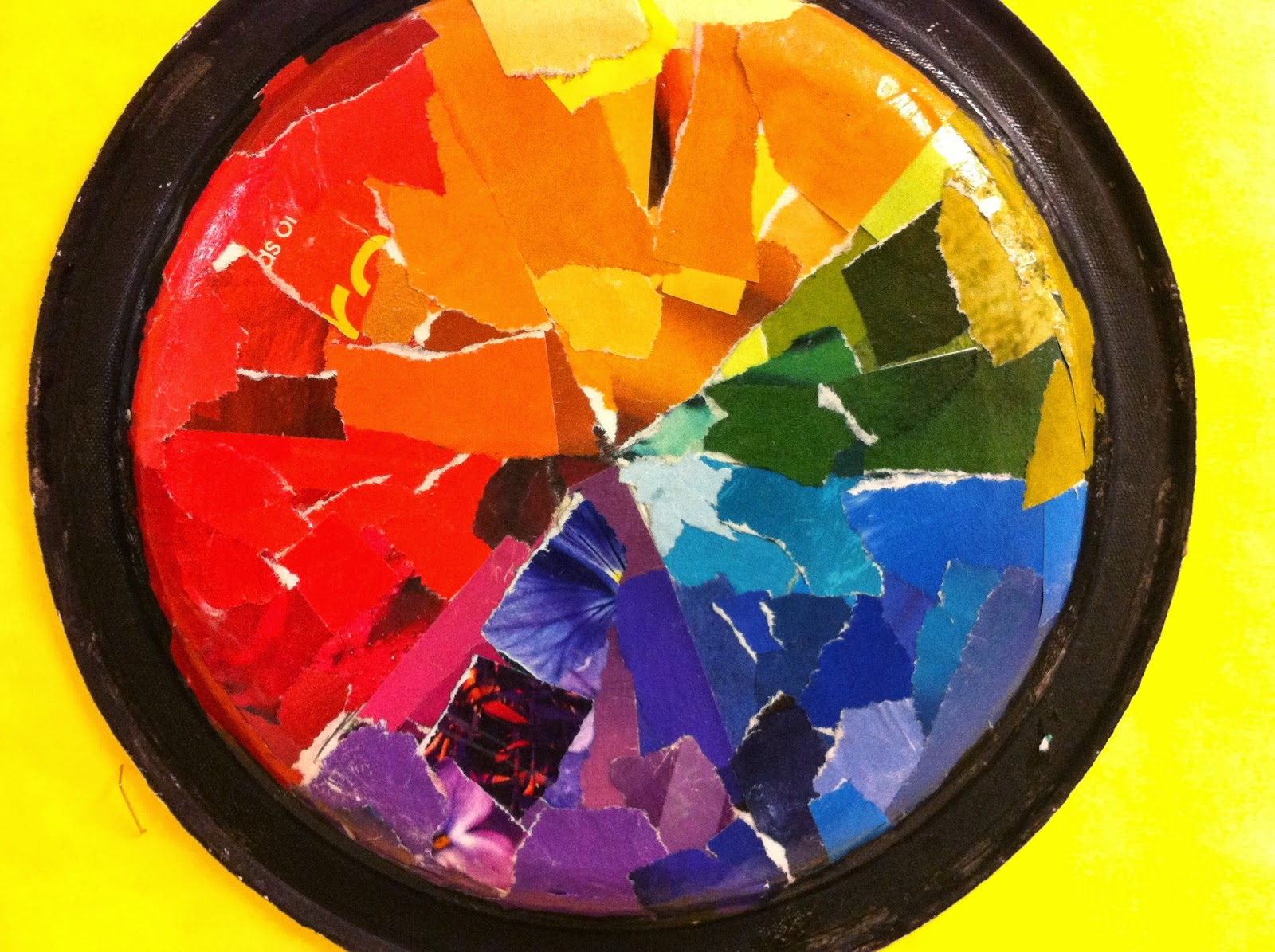 Color wheel art projects for kids - Color Wheel Plates