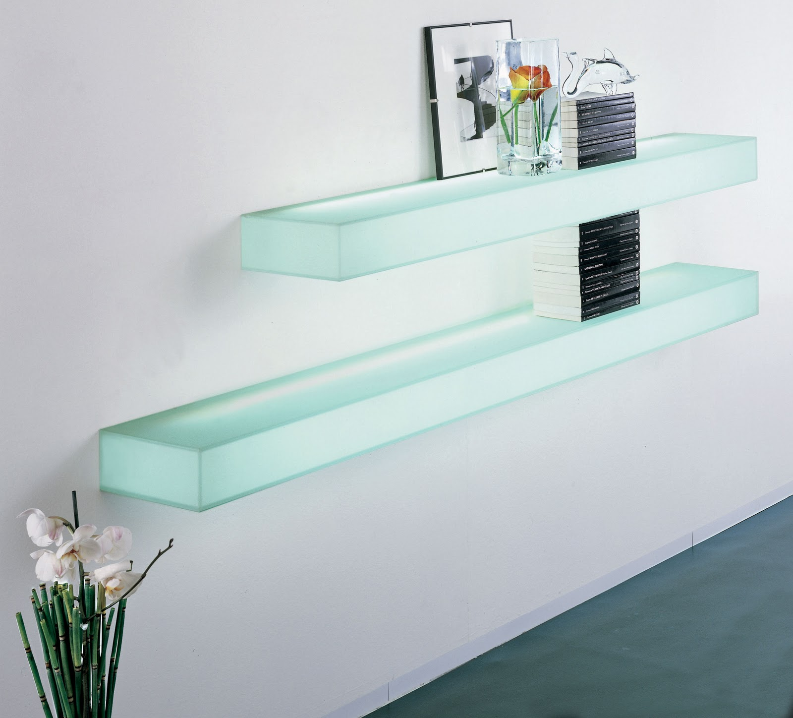 Illuminated wall shelving modern design by moderndesign illuminated wall shelving amipublicfo Image collections