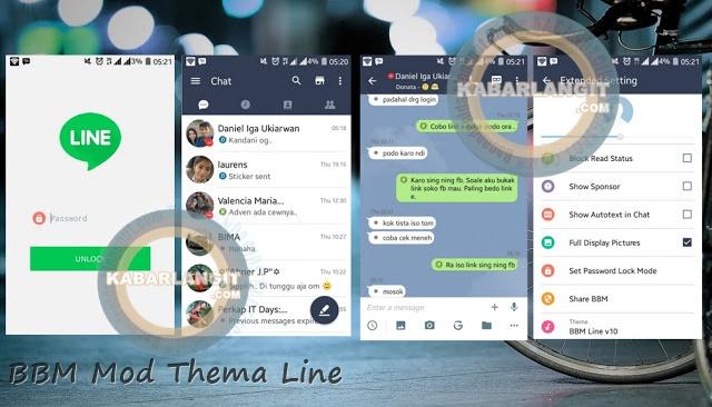Download BBM2 Mod Thema Line Versi 211016 Clone Terbaru