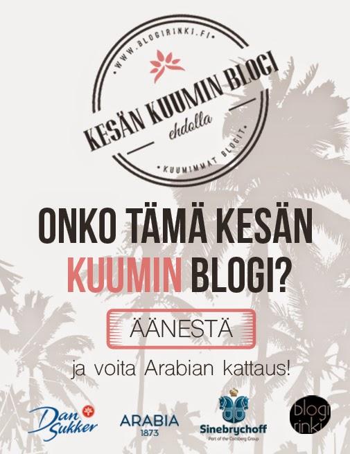 Äänestä Ruokasurffausta kesän kuumimmaksi blogiksi ja voita kaunis Arabian kesäkattaus!!!