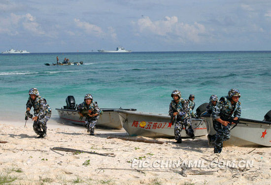 PLA special forces landing exercises
