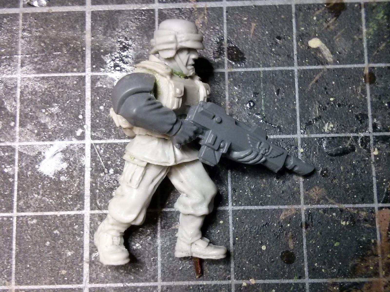 Imperial Guard, Cadian, Maxmini, Combat Armour, Victoria Miniatures, Arcadian, Conversion