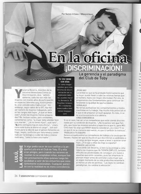Iniciativa venezolana contra la discriminaci n discriminaci n en la oficina - Sexo en la oficina ...