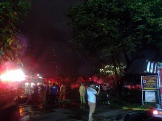 Fire hit UP Alumni center