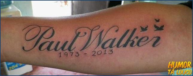 Homenagem 2013 - Tatuagem Paul Walker