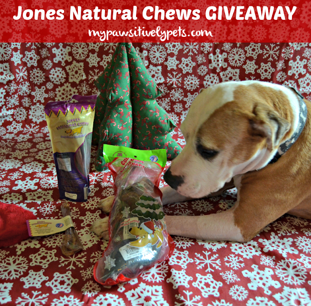 Jones Natural Chews Giveaway - 15 winners will receive a sample pack from Jones Natural Chews