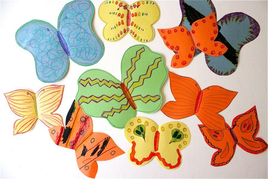 Бабочки с цветной бумаги своими руками 14