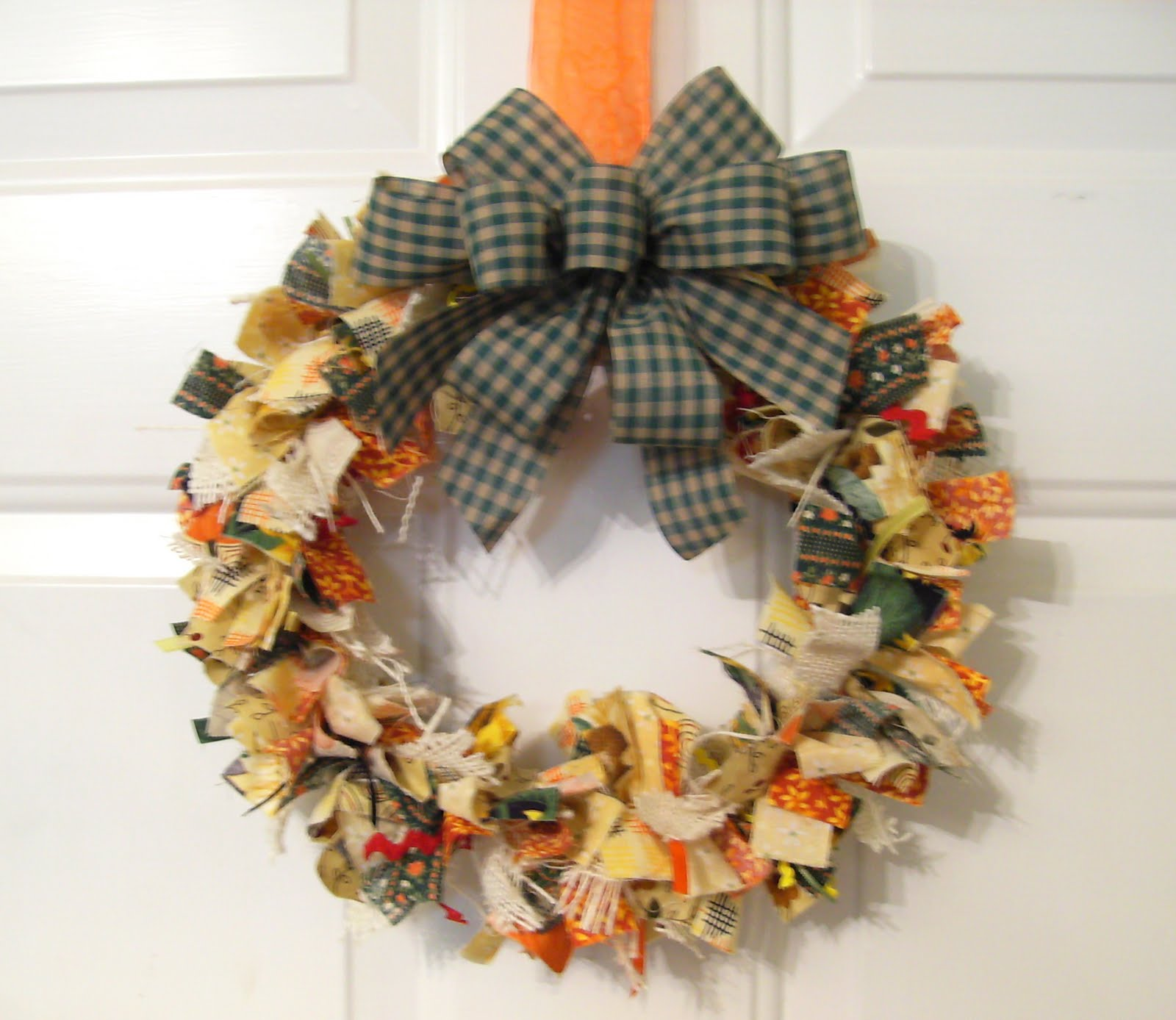 autumn harvest rag wreath bumbleberries boutique