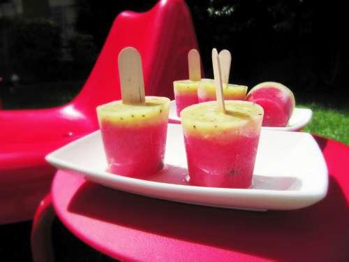 Polos de sandía, kiwi y limón