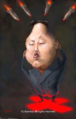 Kim Jon Un humor caricature
