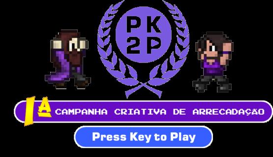Arte gráfica da Primeira campanha Criativa de Arrecadação PK2P