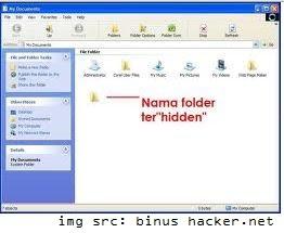 Menampilkan Folder Hidden