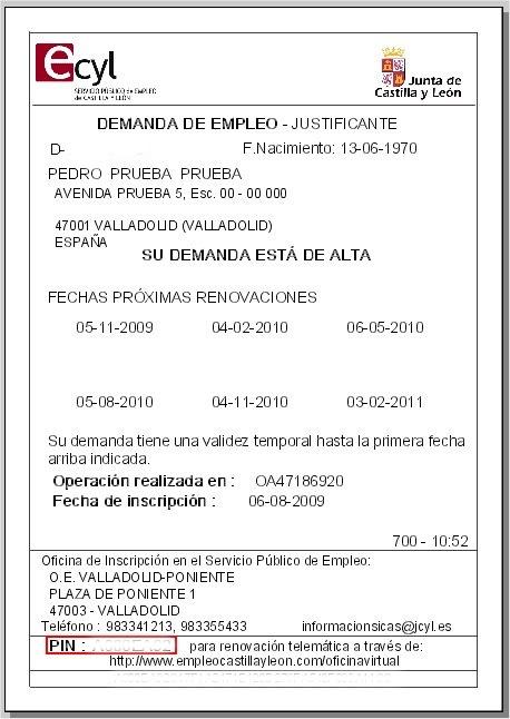 Asesor a laboral barcelona marzo 2013 for Sellar tarjeta de paro