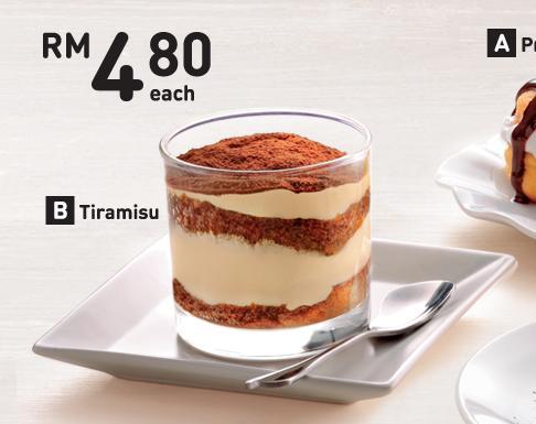 harga tiramisu premium dessert, kfc,