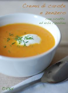 crema di carote e zenzero