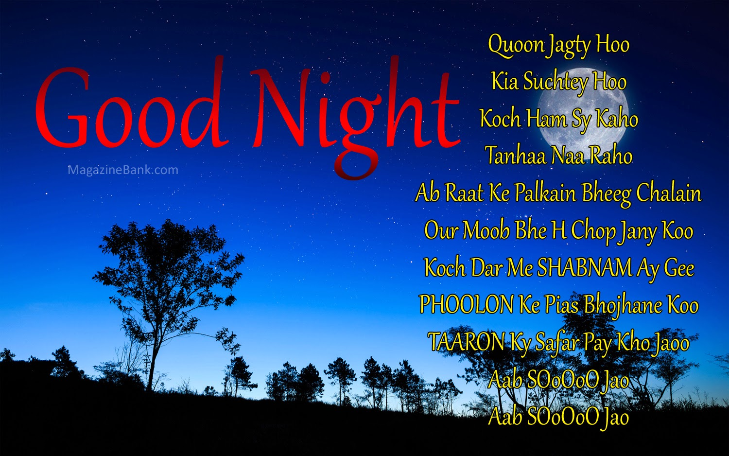 Sad Good Night Sms For...