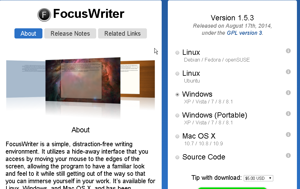 FocusWriter Word Processor