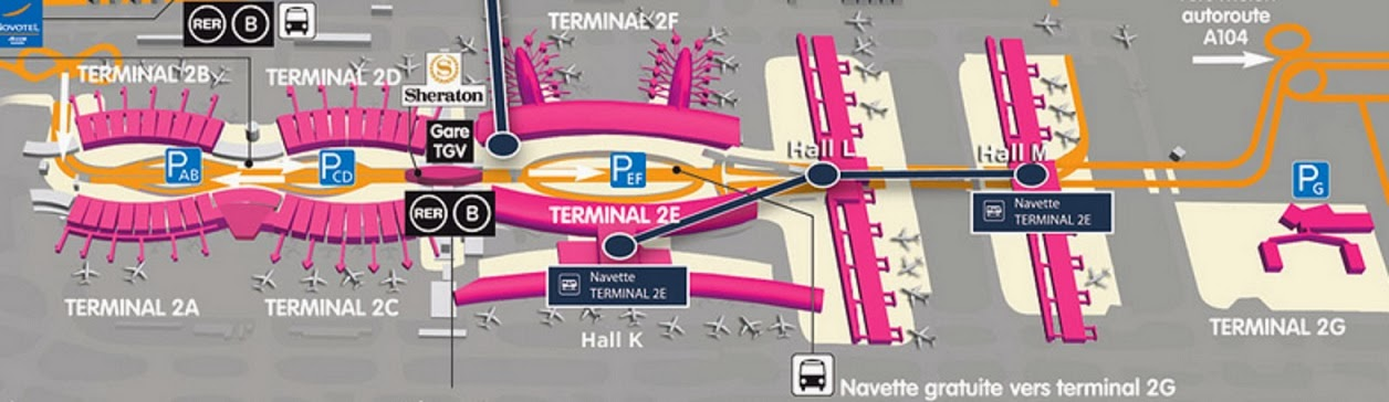 on cdg terminal 2 map