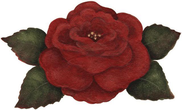 Dibujo de rosa roja