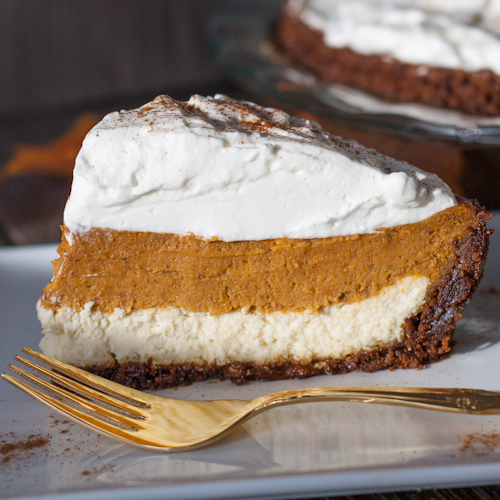 tasting pumpkin pies I've made. Combining cheesecake with pumpkin pie ...