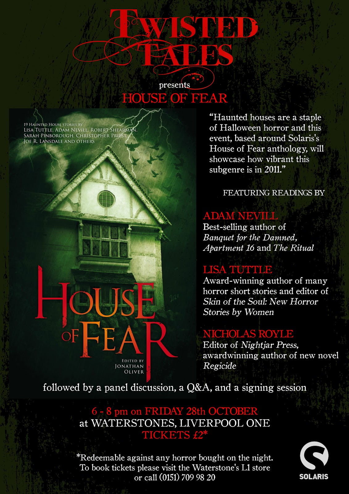 Twisted Tales: NEW EVENT: House of Fear
