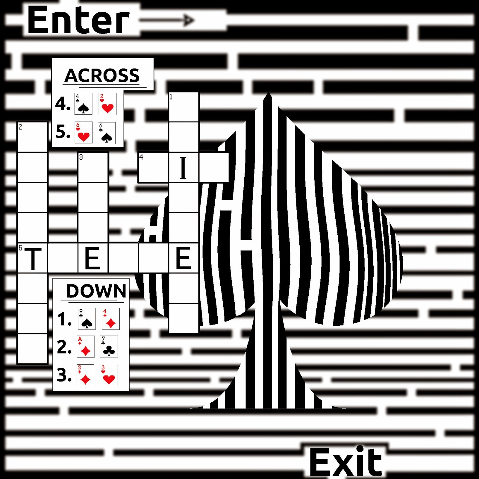 blackjack crossword maze