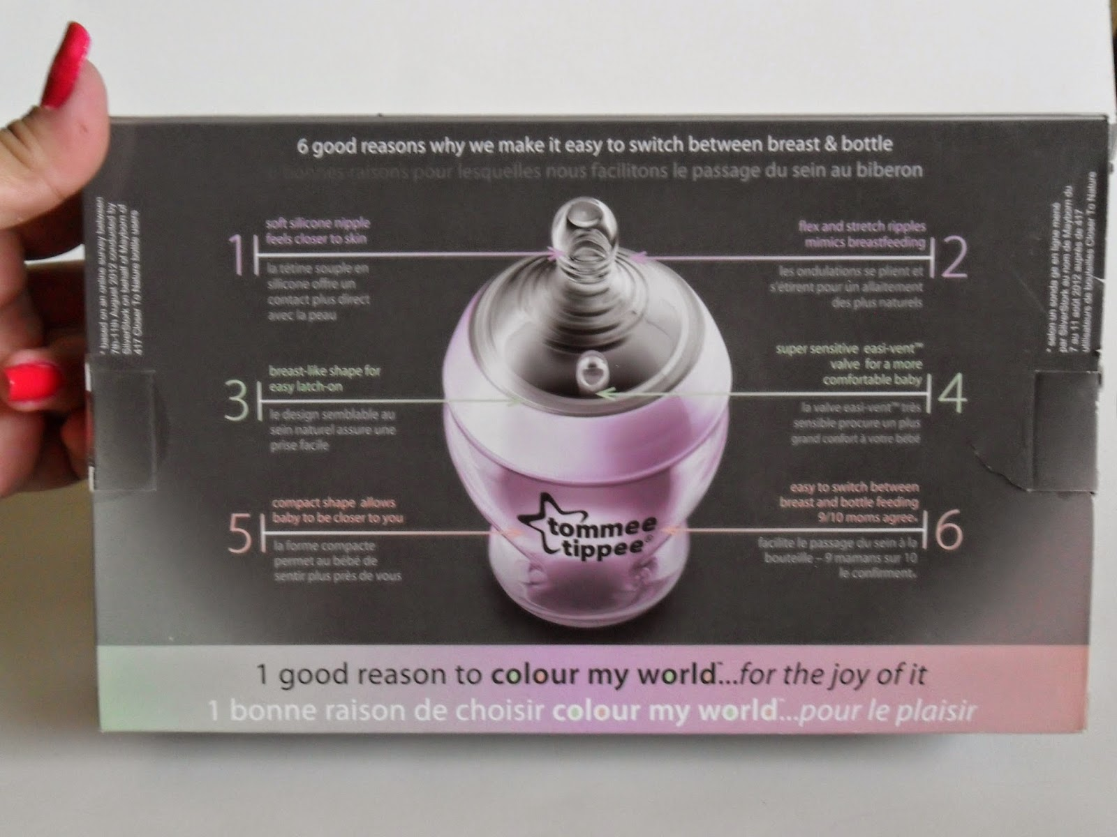 Color My World with Tommee Tippee. Review  (Blu me away or Pink of me Event)