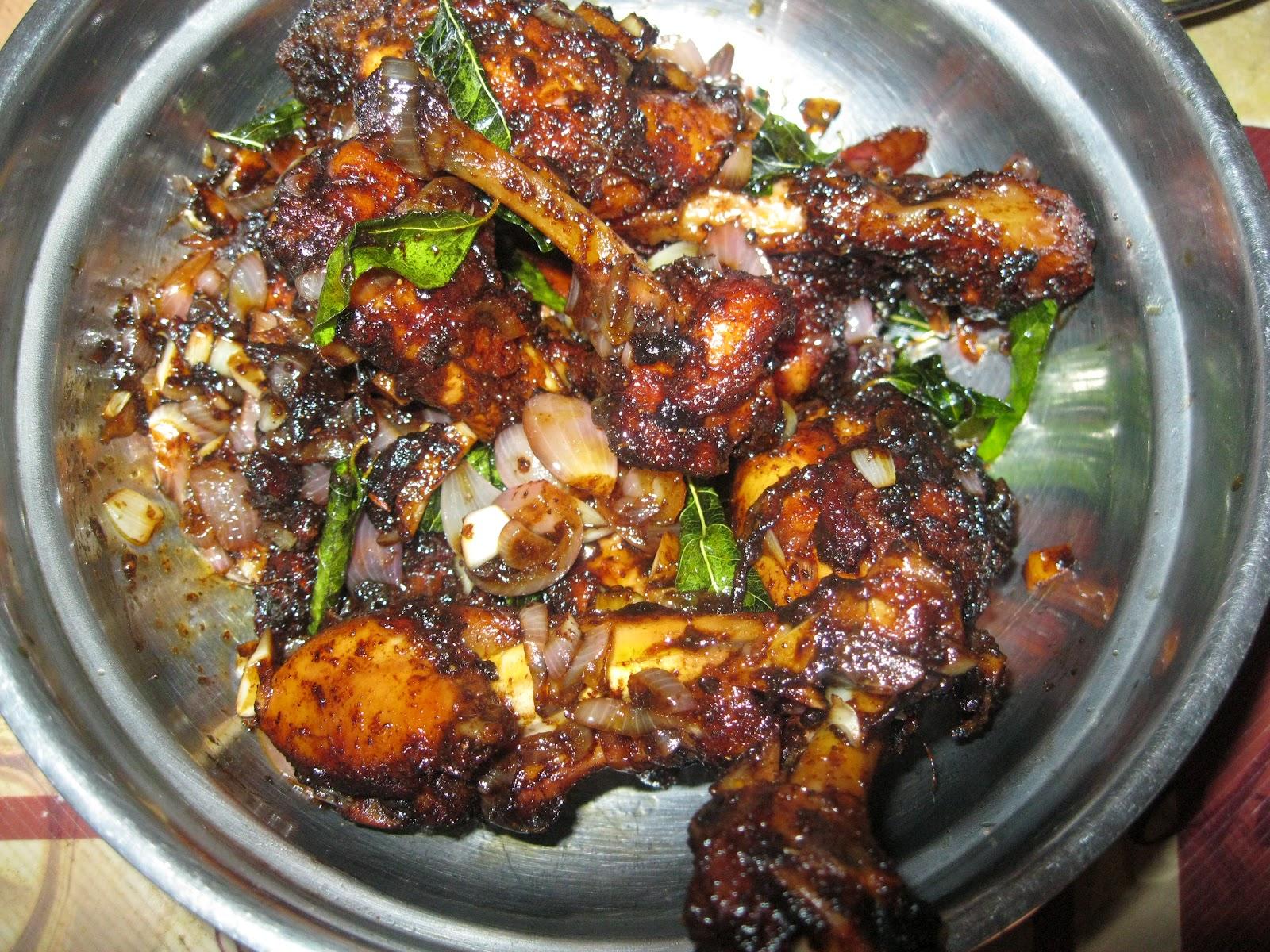 Amrita's kitchen: Fried black pepper chicken
