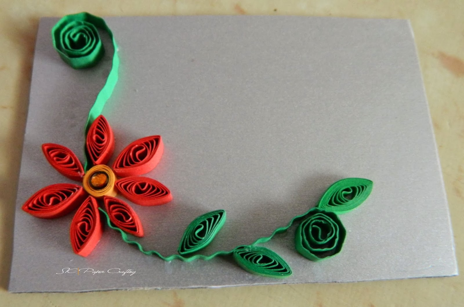 Design for handmade table decor creative art craft work for Paper quilling work