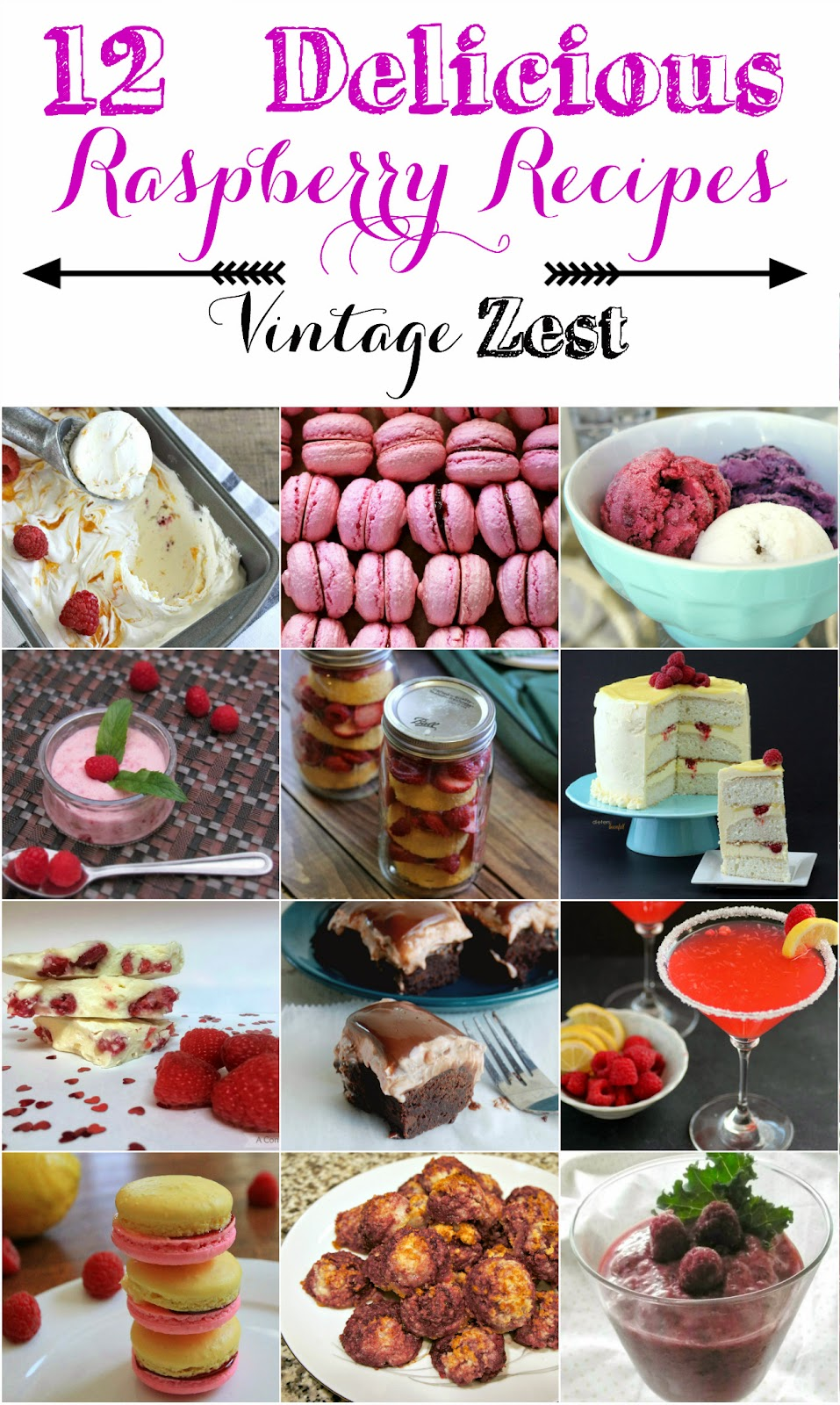Raspberry Recipe Round-up at Diane's Vintage Zest!