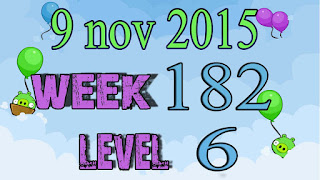 Angry Birds Friends Tournament level 6 Week 182