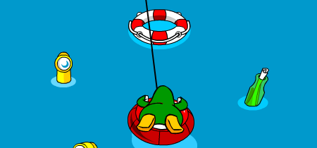 Club Penguin Hydro Hopper life ring tips