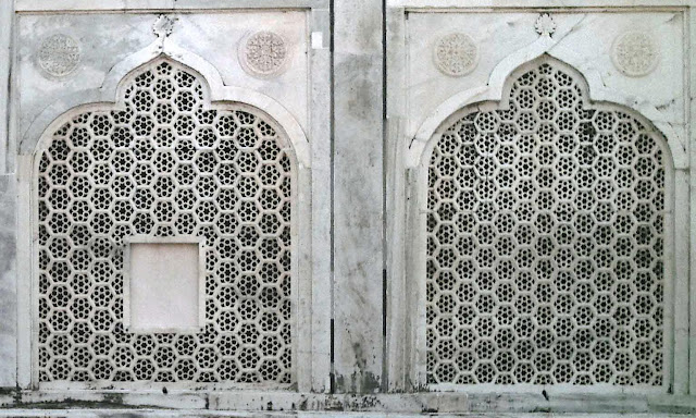 Taj marble window