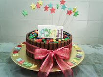 "Rainbow cake-8"" available with buttercream, freshcream, cream cheese & choc ganache"