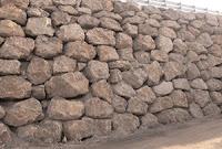 tipos, de, muros, de, piedra, contencion, escollera, obras, carretera