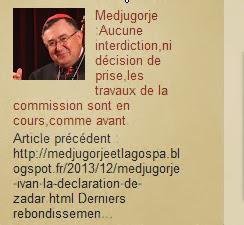 Medjugorje actualités Aucune interdiction,les travaux de la commission sont en cours
