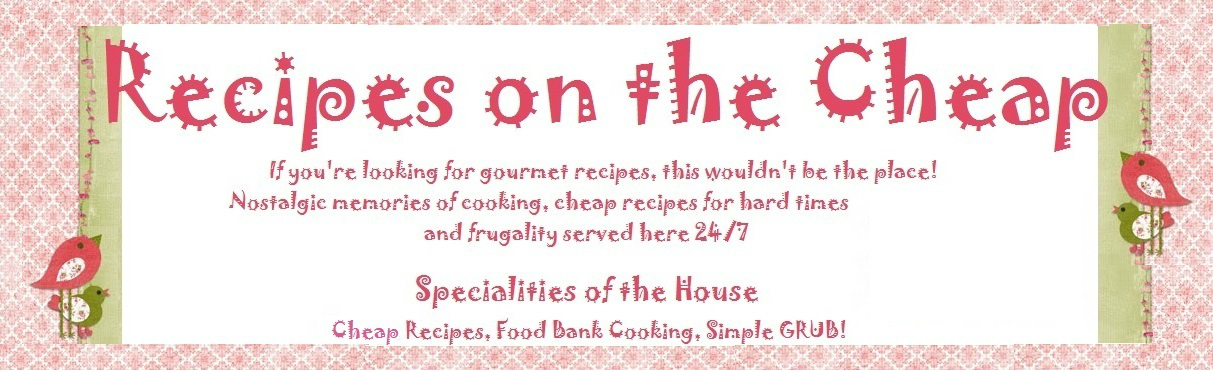Recipes on the Cheap