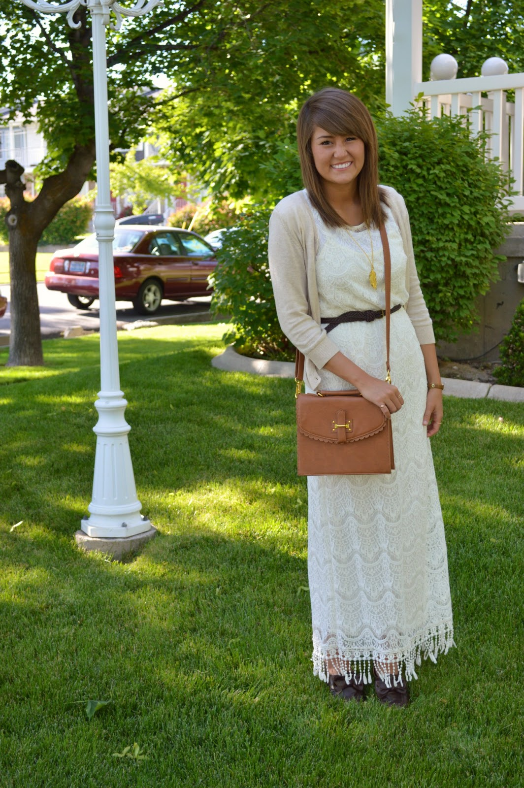 Cardigan with maxi dress summer
