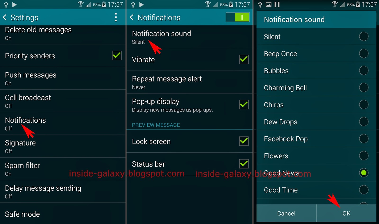 android sounds download text notification message