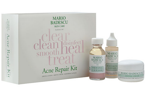 acne treatment, mario badescu acne kit, drying lotion , buffer lotion, drying cream