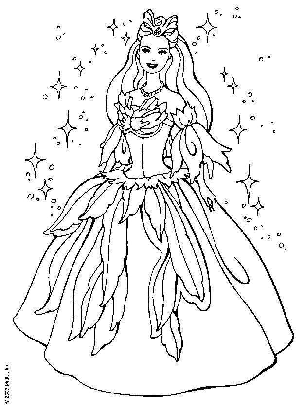 Cartoon Princess Coloring Pages